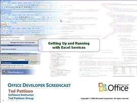 Getting Up and Running with Excel Services