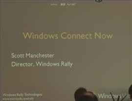 Windows Rally Technologies Seminar: Windows Connect Now