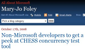 CHESS interviewed by Mary-Jo Foley