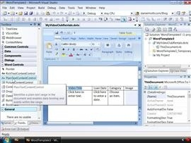 Word Content Controls in Visual Studio 2008