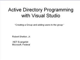 Adding Groups (and users to groups) to Active Directory with .NET