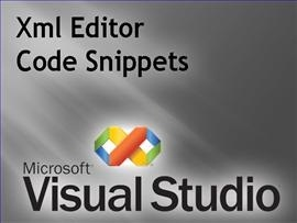 Xml Editor: Creating Code Snippets