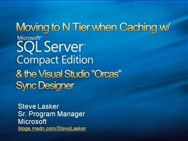 Visual Studio Orcas - Sync Designer, going N Tier with WCF