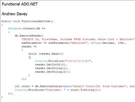 Functional ADO.NET