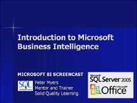 Business Intelligence #01a: Introduction to Microsoft BI