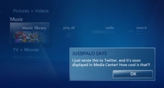 Get Twitter Updates in Media Center