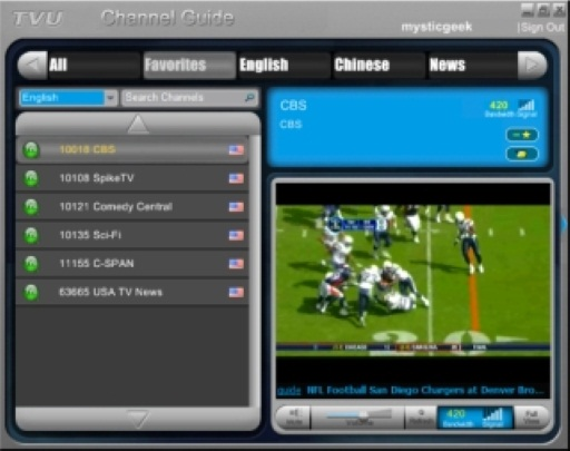 TVUPlayer Delivers Live TV To Your PC or Mobile Phone