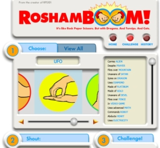 Roshamboom: A Silly Silverlight Game in Facebook
