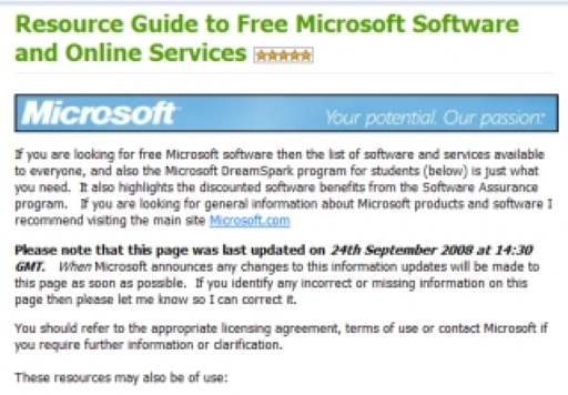 Tons of Free Microsoft Software