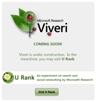 Looking Forward to Viveri: An Experimental Search Site