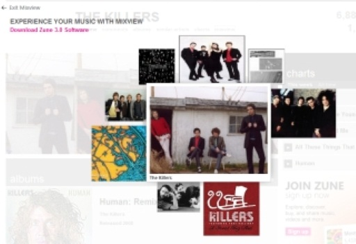 Zune's Mixview Now Live On The Web
