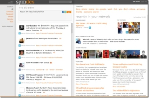 Spindex: A New Social Aggregator from FUSE Labs