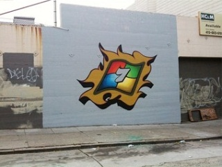 Windows 7 Graffiti?