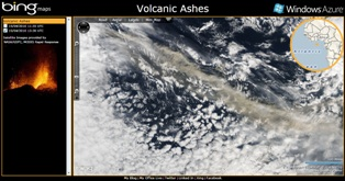 Volcanic Ash Hits Bing Maps