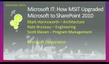 Microsoft IT: How MSIT Upgraded Microsoft to SharePoint 2010