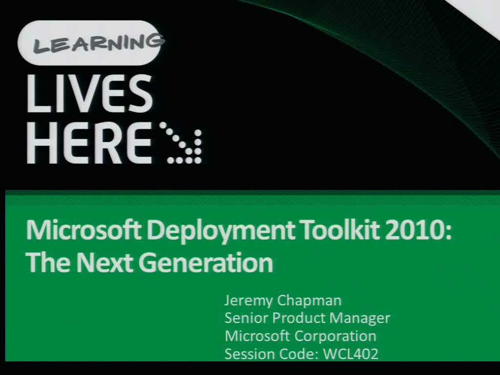 Microsoft Deployment Toolkit 2010: The Next Generation