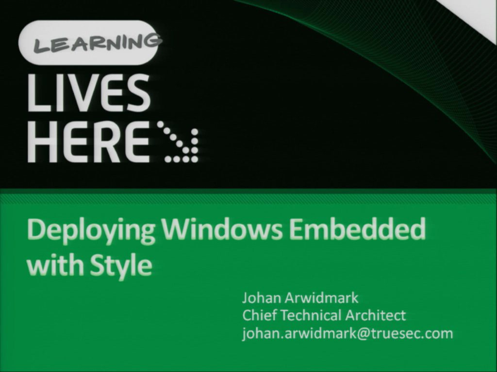 Deploying Windows Embedded with Style