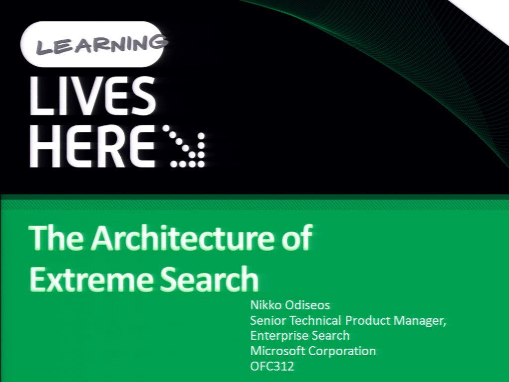 The Architecture of Extreme Search