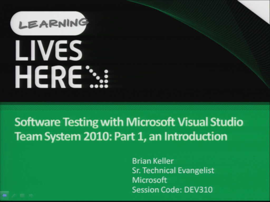 Software Testing with Microsoft Visual Studio Team System 2010: Part 1, an Introduction
