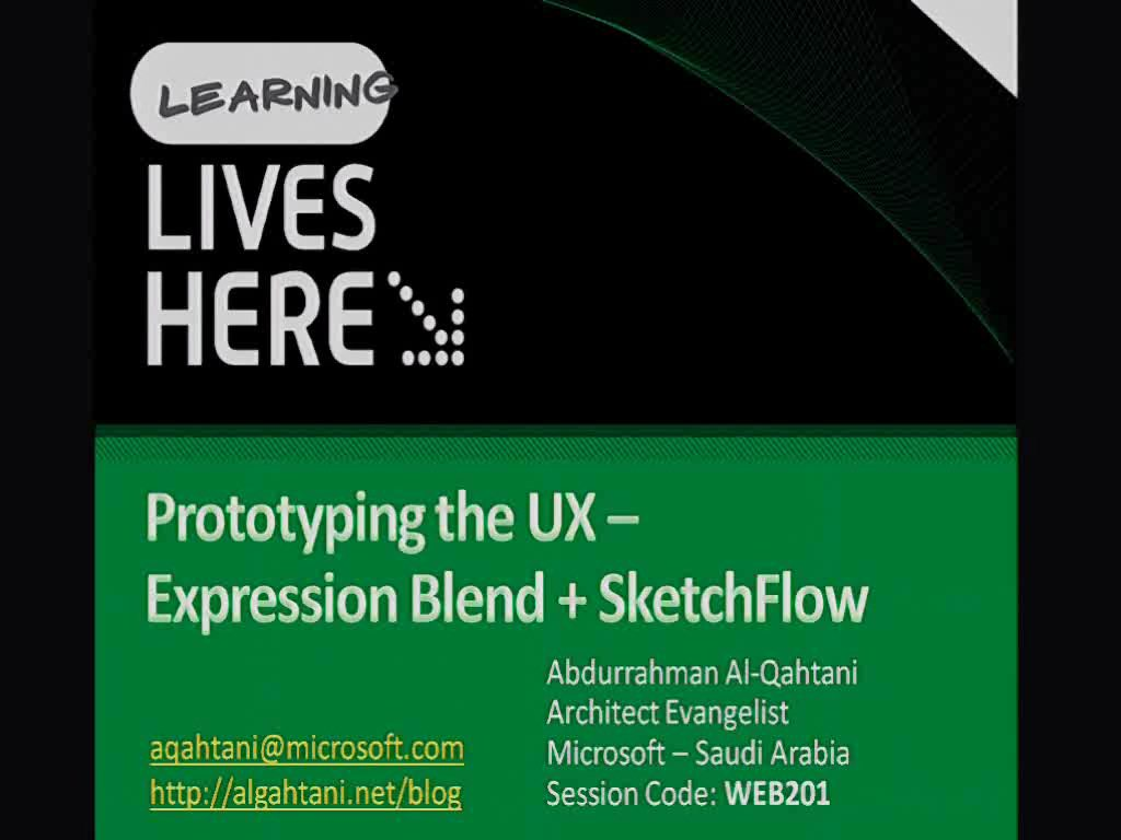 Prototyping the UX: Expression Blend + SketchFlow