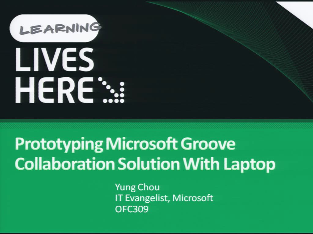 Prototyping Microsoft Office Groove Collaboration Solutions with a Laptop