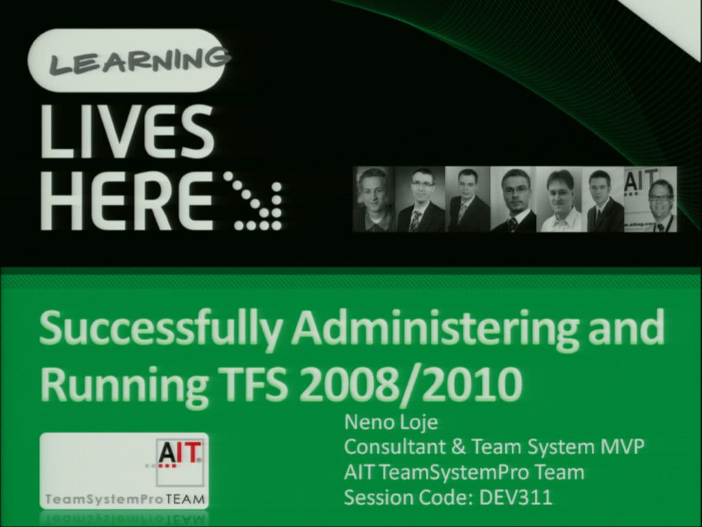 Successfully Administering and Running Microsoft Visual Studio Team System Team Foundation Server 2008/2010