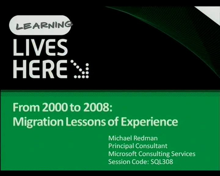 From 2000 to 2008: Migration Lessons of Experience