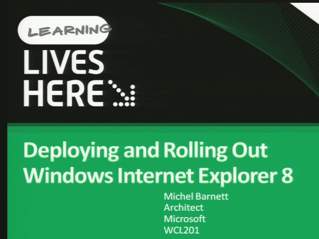 Deploying and Rolling Out Windows Internet Explorer 8