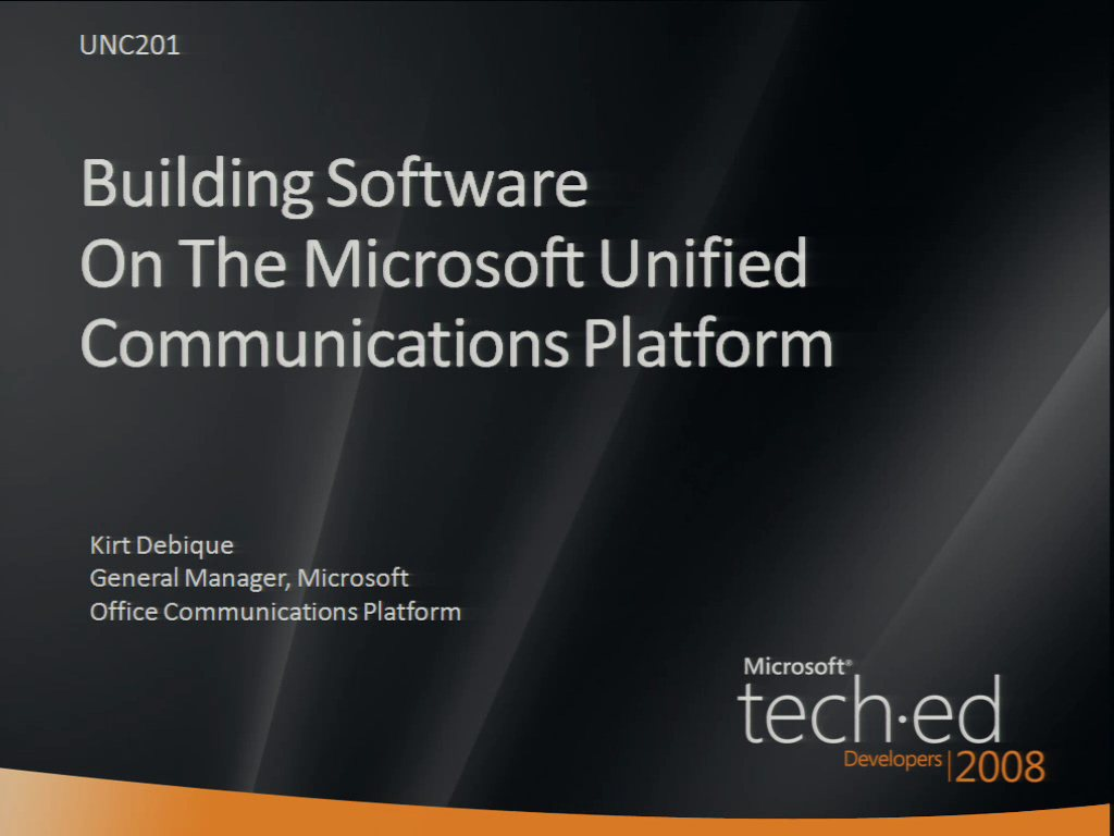 Building Software on the Microsoft Unified Communications Platform