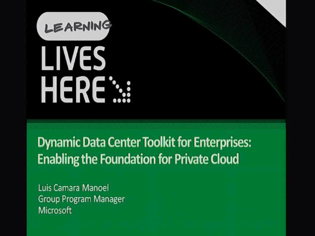 Dynamic Infrastructure Toolkit for System Center: Building a Foundation for Private Cloud: DIT-SC Drilldown
