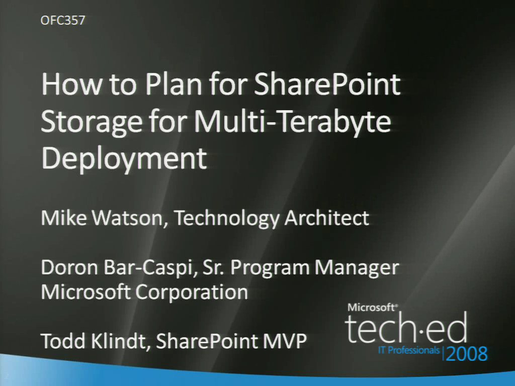 How to Plan for SharePoint Storage Management for Multi-Terabyte Deployment