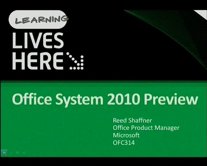 Office System 2010 Preview - Repeat