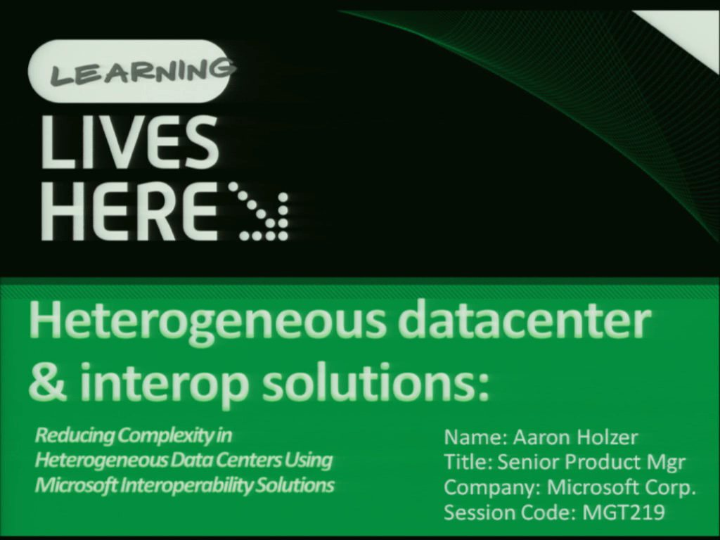 Reducing Complexity in Heterogeneous Data Centers Using Microsoft Interoperability Solutions