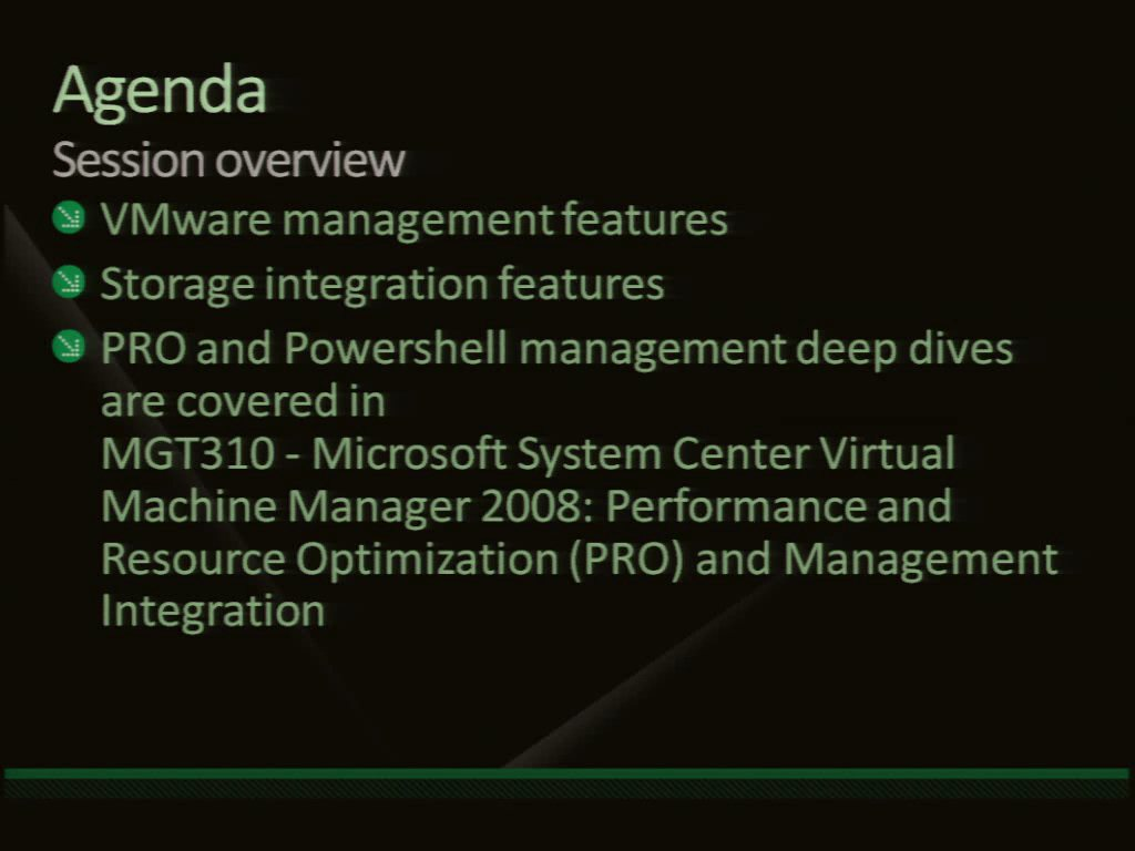 Microsoft System Center Virtual Machine Manager 2008: Advanced Features