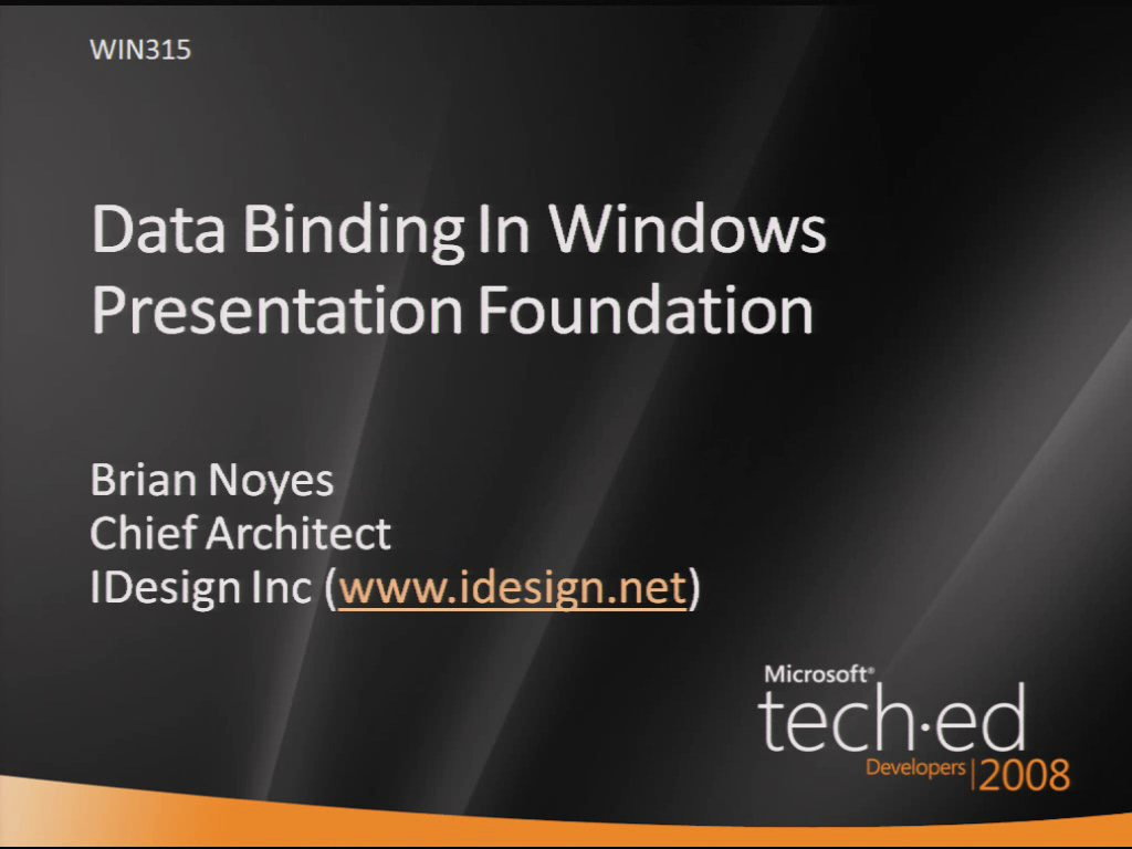 Data Binding in Windows Presentation Foundation