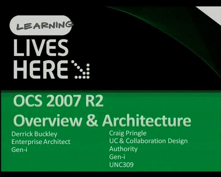 Office Communications Server 2007 R2: Overview & Architecture