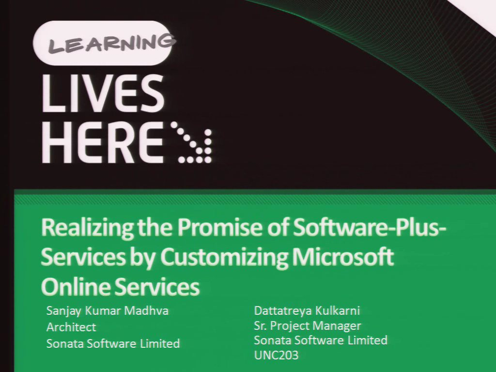 Realizing the Promise of Software-Plus-Services by Customizing Microsoft Online Services