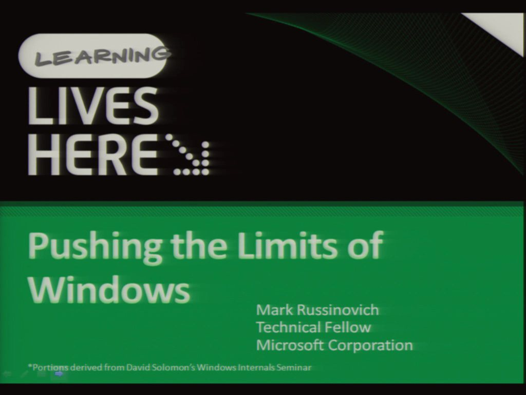 Pushing the Limits of Windows