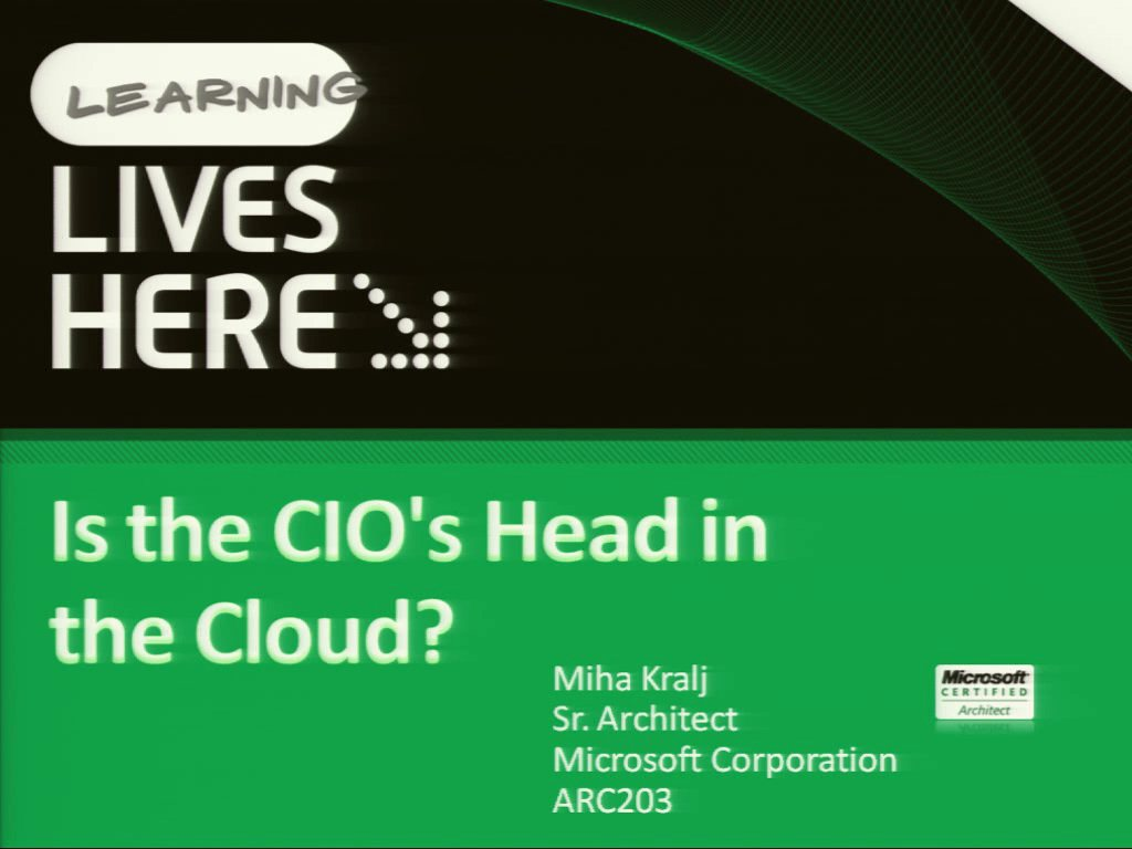 Is the CIO's Head in the Cloud?