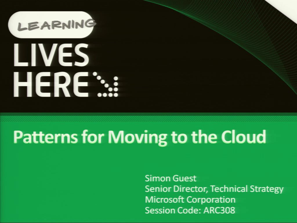 Patterns for Moving to the Cloud