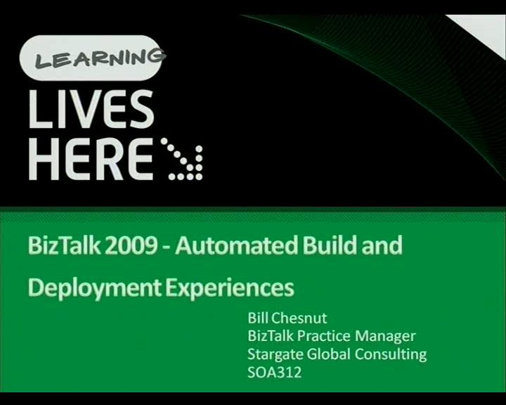 BizTalk 2009 - Automated Build and Deployment Experiences