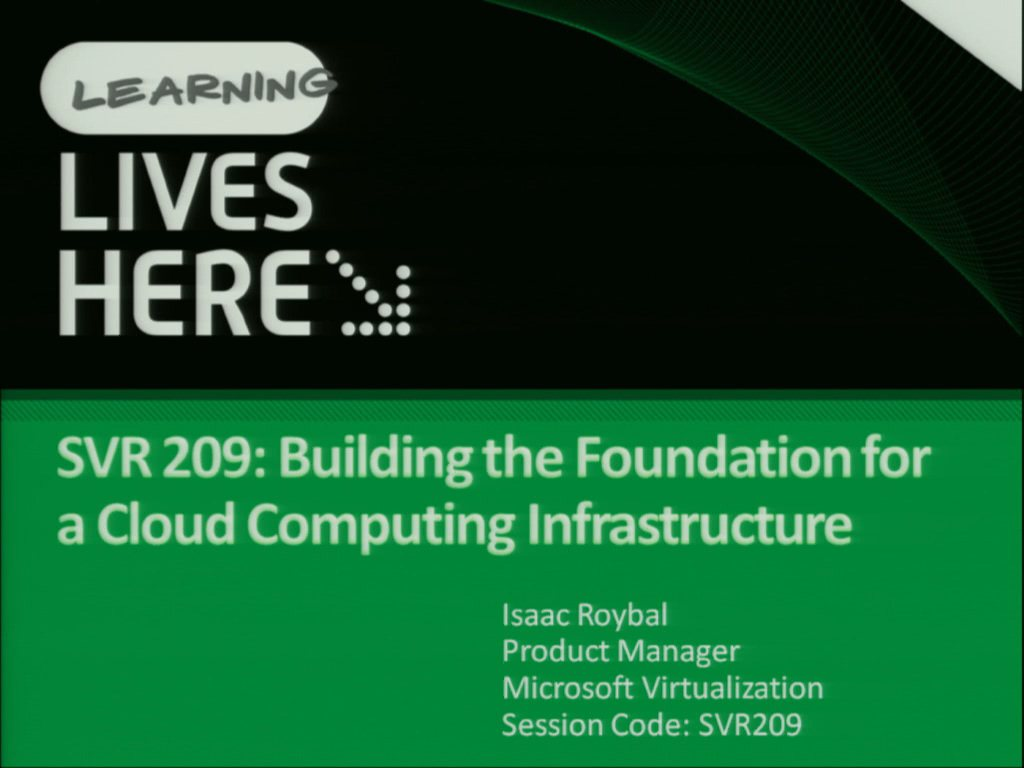Building the Foundation for a Cloud Computing Infrastructure