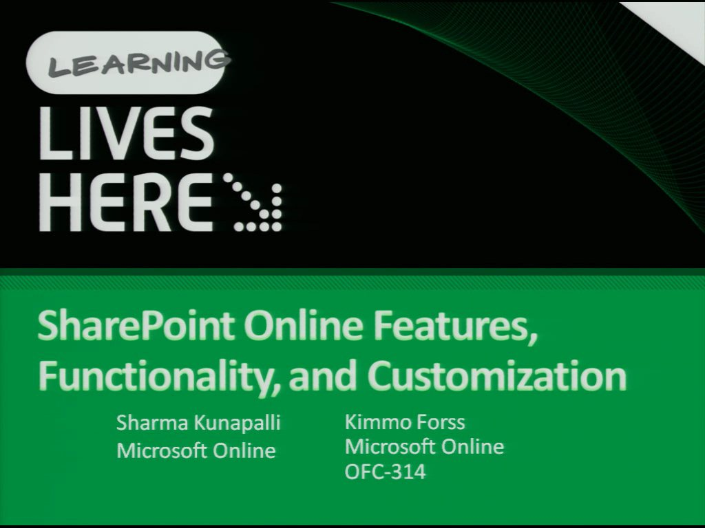 SharePoint Online Features, Functionality, and Customization