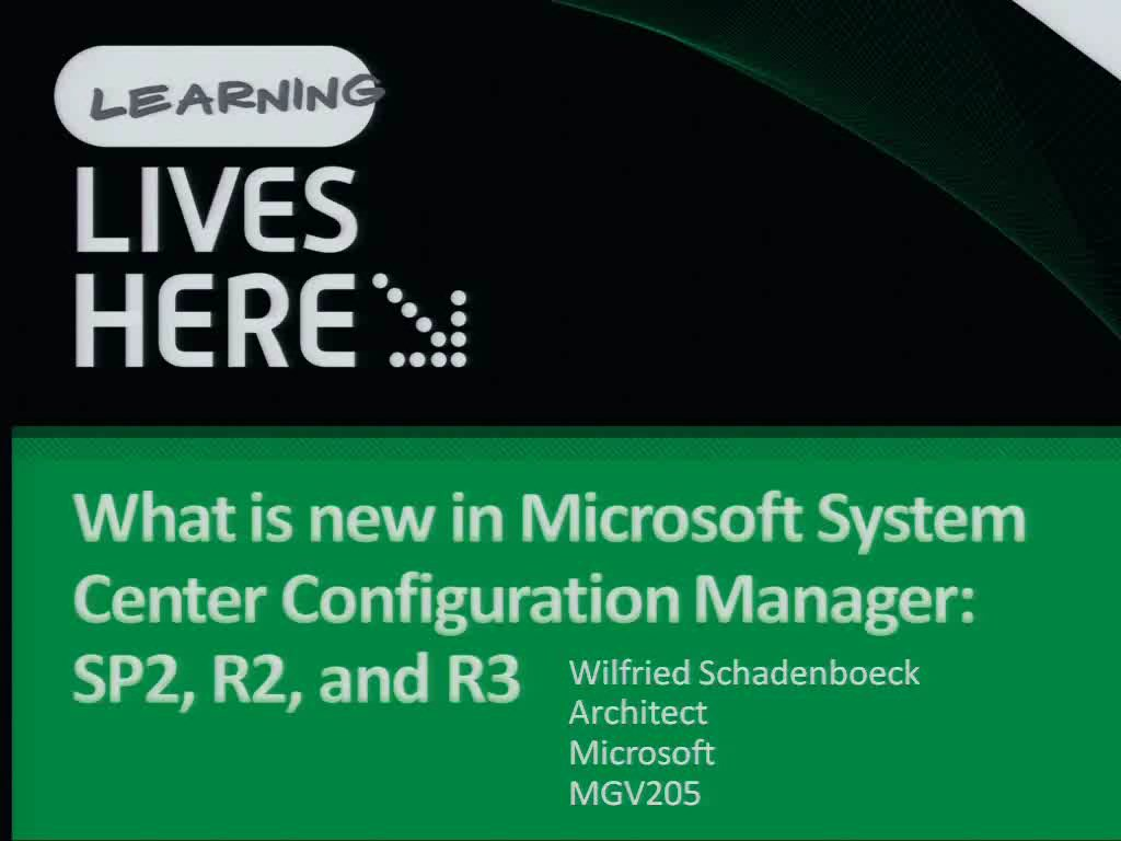 What's New in Microsoft System Center Configuration Manager: SP1, R2, and R3