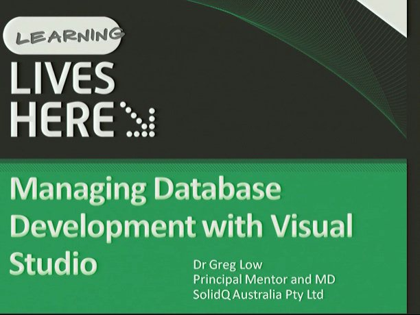 Managing Databases with Visual Studio