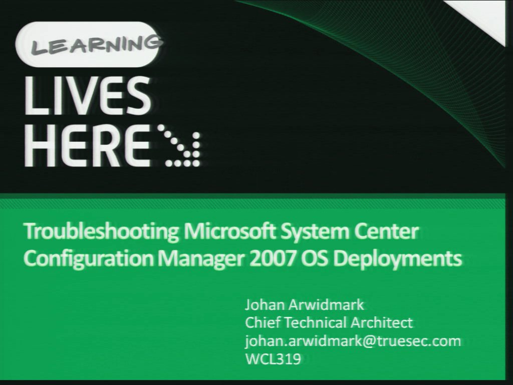 Troubleshooting Microsoft System Center Configuration Manager 2007 OS Deployments