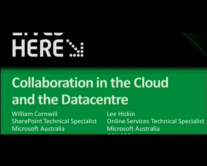 Collaboration in the Cloud and the datacentre - no code solutions to SharePoint customisation