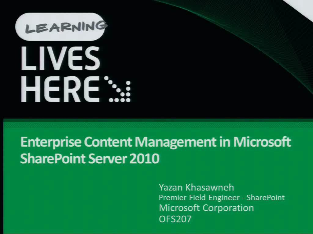 Enterprise Content Management in Microsoft SharePoint Server 2010