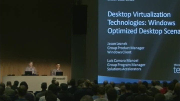 Desktop virtualization technologies: Windows optimized desktop scenarios