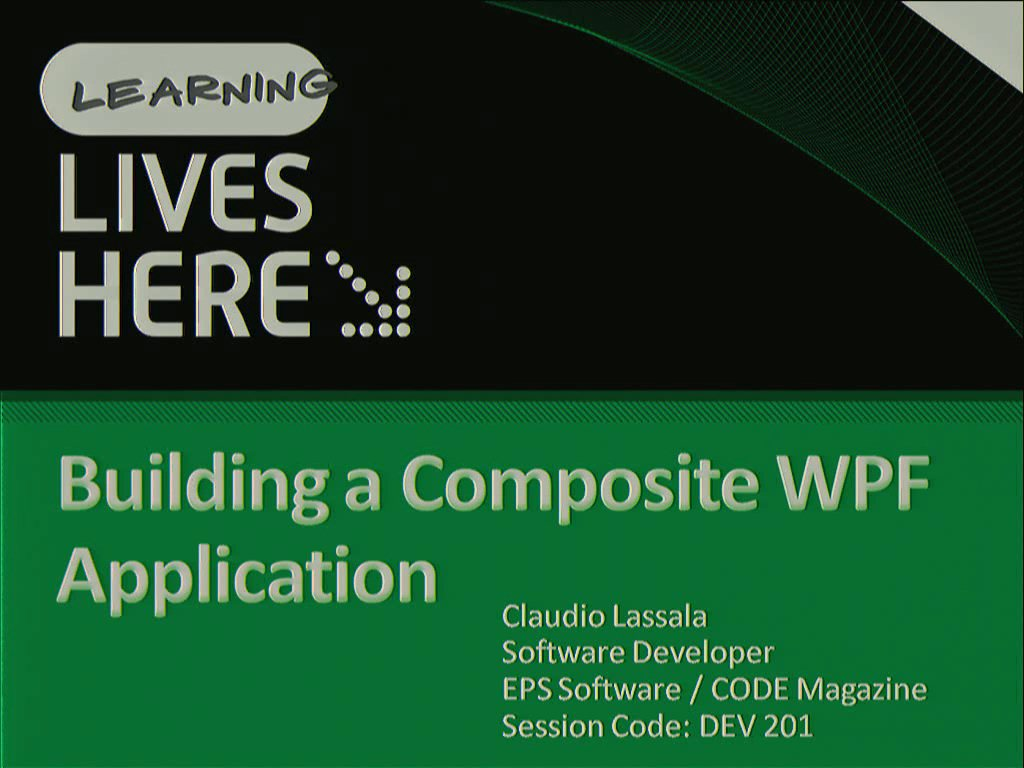 Building a Composite Windows Presentation Foundation Application
